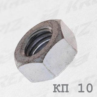 Гайка оцинкованная шестигранная DIN 934 класс прочности 10.0 купить в Крепиз