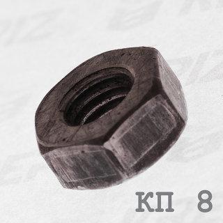 Гайка черная шестигранная DIN 934 класс прочности 8.0 купить в Крепиз