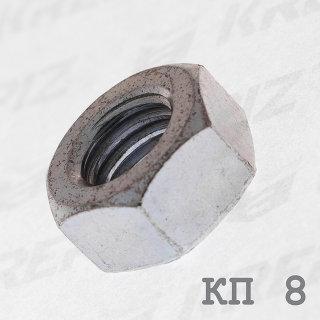 Гайка оцинкованная шестигранная DIN 934 класс прочности 8.0 купить в Крепиз