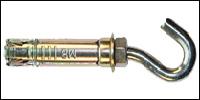 Купить 4-х сегментный металлический анкер с крюком