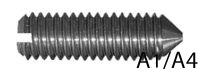 Крепежный винт DIN 553, установочный, нержавеющая сталь A1, А4