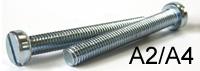 Крепежный винт DIN 84 нержавеющая сталь А2, А4