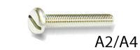 Крепежный винт DIN 85 с прямым шлицем, нержавеющая сталь А2, A4