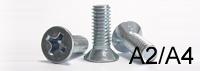 Крепежный винт DIN 965 нержавеющая сталь А2, А4