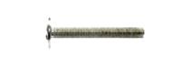 Крепежный винт DIN 967 мебельный, полусферическая головка с прессшайбой, шлиц KOMBI