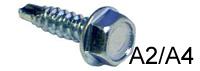 Винт самосверлящий кровельный DIN 7504К стандартное сверло (А2,A4)