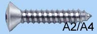 Винты самонарезающие DIN 7983, головка полупотай, шлиц PH (А2,A4)